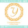文字,Y,フラワーリース,花,植物,自然のロゴマークデザイン