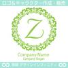 Z,アルファベット,フラワーリース,花,植物,自然のロゴマークデザイン