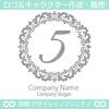 数字の5,フラワーリース,花,植物,自然のロゴマークデザインです。