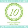 数字の10,フラワーリース,花,植物,自然のロゴマークデザインです。