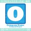 数字0,O,アルファベット,四角,青色のロゴマークデザインです。