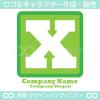 X,ローマ数字10,アルファベット,四角のロゴマークデザインです。