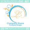 L,アルファベット,リース,植物,葉,リーフのロゴマークデザインです。