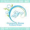 N,アルファベット,リース,植物,葉,リーフのロゴマークデザインです。