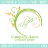 P文字,アルファベット,リース,植物,自然のロゴマークデザイン