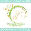 T文字,アルファベット,リース,植物,自然のロゴマークデザイン