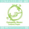 アルファベットF,リース,植物,葉のロゴマークデザインです。