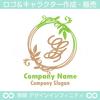 G,アルファベット,リース,植物,自然のロゴマークデザイン