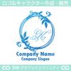 アルファベットK,リース,植物,自然のロゴマークデザインです。