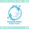 L,アルファベット,リース,植物,自然のロゴマークデザインです。