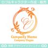 O,アルファベット,リース,植物,自然のロゴマークデザインです。