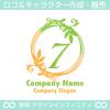 7,数字,葉,リーフ,リース,植物,自然のロゴマークデザイン