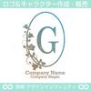 G,アルファベット,リース,植物,自然,丸のロゴマークデザイン