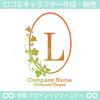K,アルファベット,リース,植物,自然,丸のロゴマークデザイン