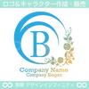 B,アルファベット,花,植物のロゴマークデザインです。