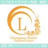 L,アルファベット,花,植物のロゴマークデザインです。