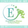 E,文字,花,蝶,フラワー,植物,リースの優雅なロゴデザイン