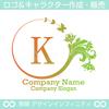 K,文字,花,蝶,植物,リースの優雅なロゴマークデザインです。
