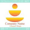 人の瞑想や太陽をイメージしたロゴマークデザインです。