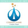 塔,タワー,星,スター,上昇をイメージしたロゴマークデザインです。