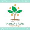 木,芽生え,植物,光をイメージしたロゴマークデザインです。