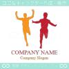 ランナー,走者,スポーツ,マラソンのロゴマークデザインです。