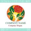 薔薇,花,フラワー,植物をイメージしたロゴマークデザインです。