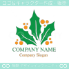 ヒイラギ,植物,葉,リーフをイメージしたロゴマークデザインです。