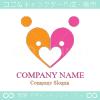 家族,愛,ファミリー,人,ハートをイメージしたロゴマークデザインです。