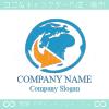 地球,世界,グローバル,ビジネスのロゴマークデザインです。
