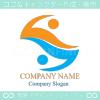 人間,アルファベットZ,協力をイメージしたロゴマークデザインです。