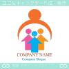 家族,ファミリー,親子,上昇をイメージしたロゴマークデザインです。