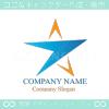 星,スター矢,上昇,頂点をイメージしたロゴマークデザインです。