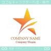 星,スター,流れ星,火星をイメージしたロゴマークデザインです。