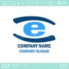 e文字,目,アイのイメージのロゴマークデザインです。