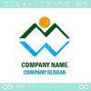 文字M,文字W,湖,太陽,山をイメージしたロゴマークデザイン