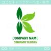 K文字,リーフ,エコ,自然のイメージのロゴマークデザインです。