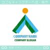太陽,山,森,矢,人をイメージしたロゴマークデザインです。