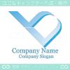 優れる,V文字をイメージしたロゴマークデザインです。