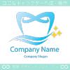 美しい,歯をイメージしたロゴマークデザインです。