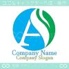 Aアルファベット,水,自然がイメージのロゴマークデザインです。