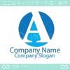 アルファベットA,A文字をイメージしたロゴマークデザインです。