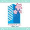桜,高層ビルをイメージしたロゴマークデザインです。