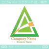 A文字,山,上昇矢のロゴマークデザインです