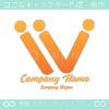 人,勝利のV文字,がモチーフのロゴマークデザインです。