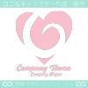 ハート,ツイスト,愛がモチーフのロゴマークデザインです。