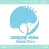 象,ゾウ,上昇のイメージのロゴマークデザインです。