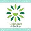 緑、花、陰陽のシンボルマークのロゴマークデザインです。