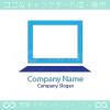 ノートPC、クリーンをイメージしたロゴマークデザインです。