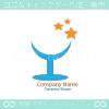 星、グラスをイメージしたロゴマークデザインです。